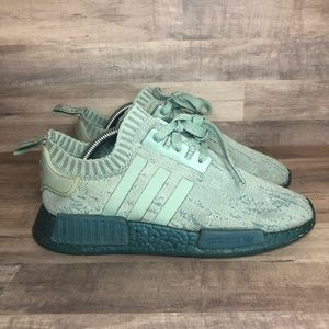 Adidas NMD Primeknit Green Sea Blue CG3601